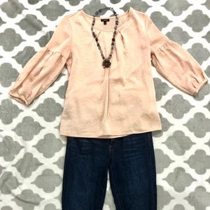 3/$30 Talbots like new pink 3/4 sleeve blouse